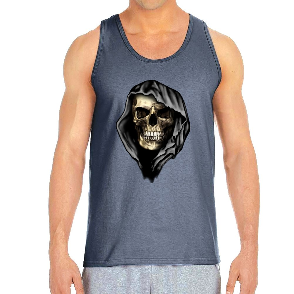 XX Large Empire Tees Mens Hooded Grim Reaper Charcoal Tank Top