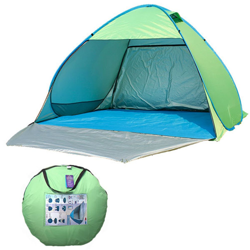 RFVBNM Camping Zelt Campingplatz automatisch Zelten schnell paar 3-4 Personen outdoors Sonne Schutz Schutz Regen Campen mit Türen