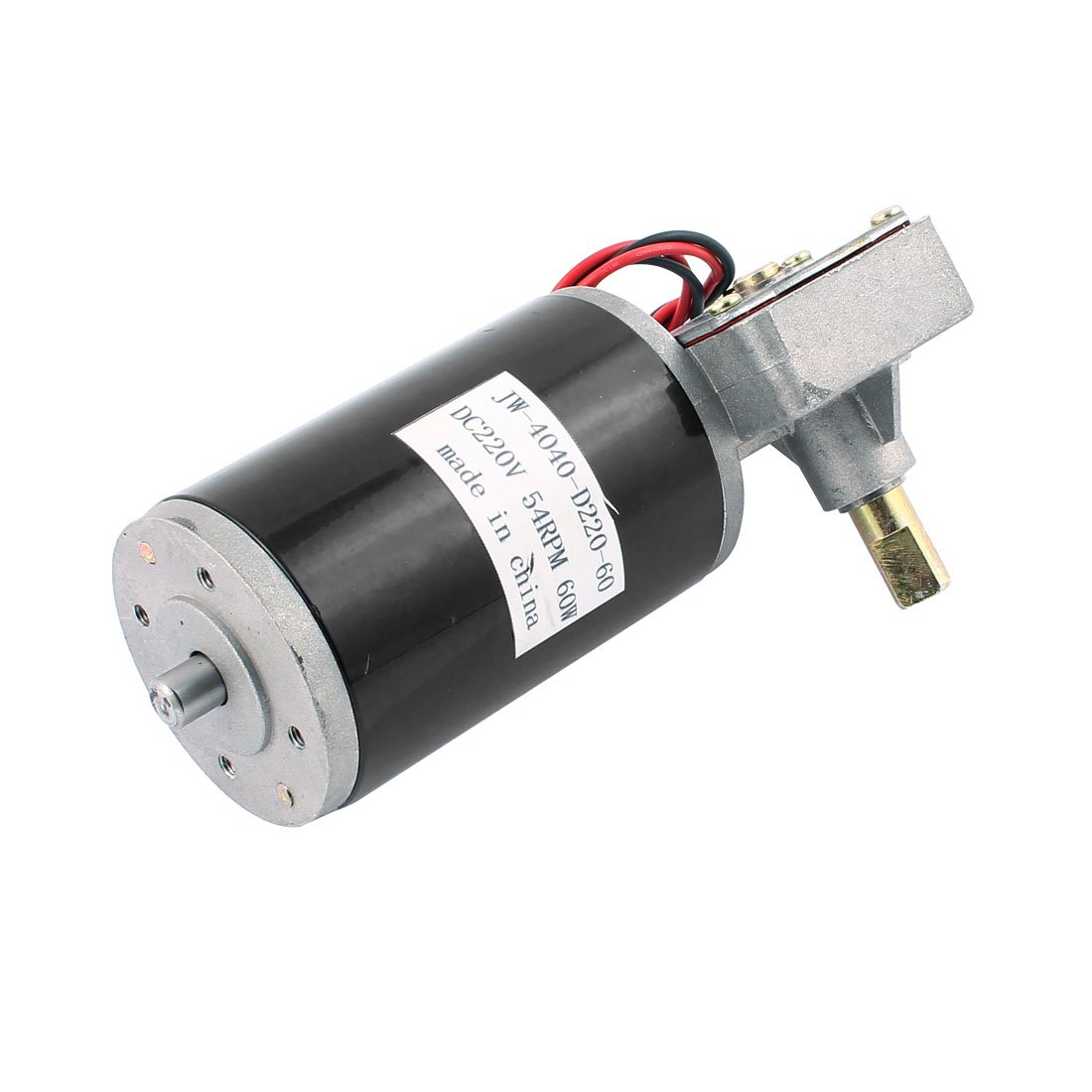 uxcell JW-4040-D220-60 DC 220V 54RPM 60W DC Geared Motor for Electronic Game Machine