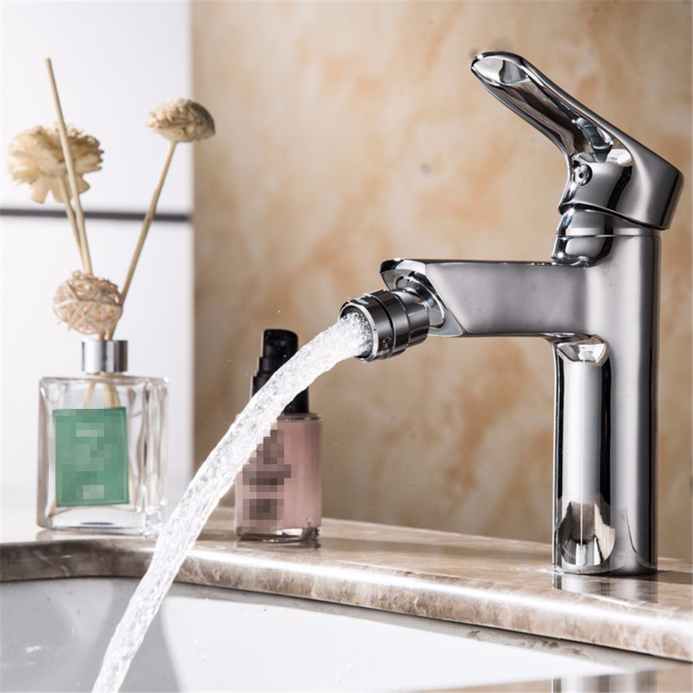 LHbox Basin Mixer Tap Bathroom Sink Faucet The Toilet Woman wash, Turn The tap to Rinse, Single Hole Basin Cold Water tap.