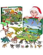 BOXYUEIN Adventskalender voor kinderen 2021, 24 dagen kerst-countdown, kerstcadeaus voor kinderen, dinosaurus-speelgoed