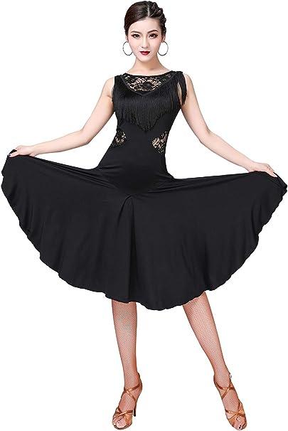 Amazon.com: ZX - Vestido de baile para mujer con flecos y ...