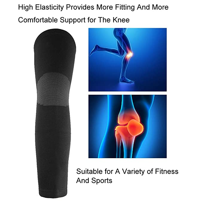 Joint Pain Relief and More Biking Zerone Knee Support Brace Compression Sleeve Sports Knee Protector Unisex Lengthened Knit Warm Kneecap Pads for Basketball Running