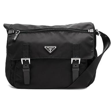 71c2e446c55 Prada Women s Black Nylon Fabric Crossbody Messenger Bag 1BD671   Amazon.co.uk  Clothing