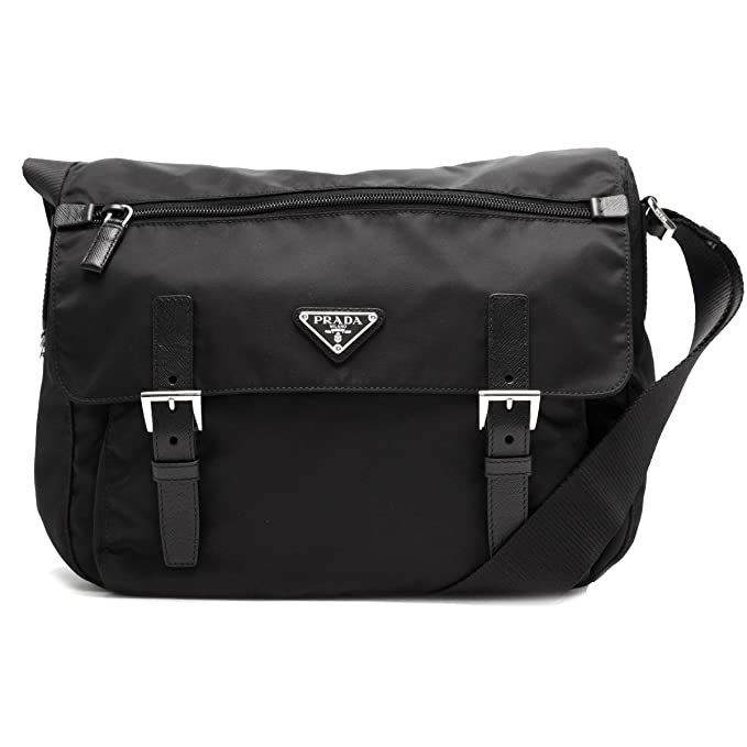 b348ddedcbf7b6 Prada Women's Black Nylon Fabric Crossbody Messenger Bag 1BD671: Amazon.ca:  Clothing & Accessories