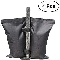 VORCOOL 4 PCS Oxford Carpa Stand Sandbags Canopy Tent Weights Bolsas de Arena Bolsas de Peso para Pop Up Tents Outdoor Sun Shelter (Negro)
