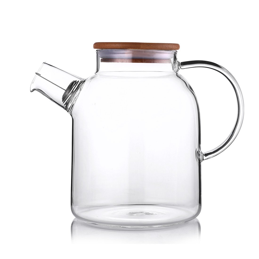 ONEISALL GYBL010 1600ML Glass Teapot with Stainless Strainer, Functional Borosilicate Glass Water Pitcher with Bamboo Lid Huizhou Weifan Trading Co. Ltd