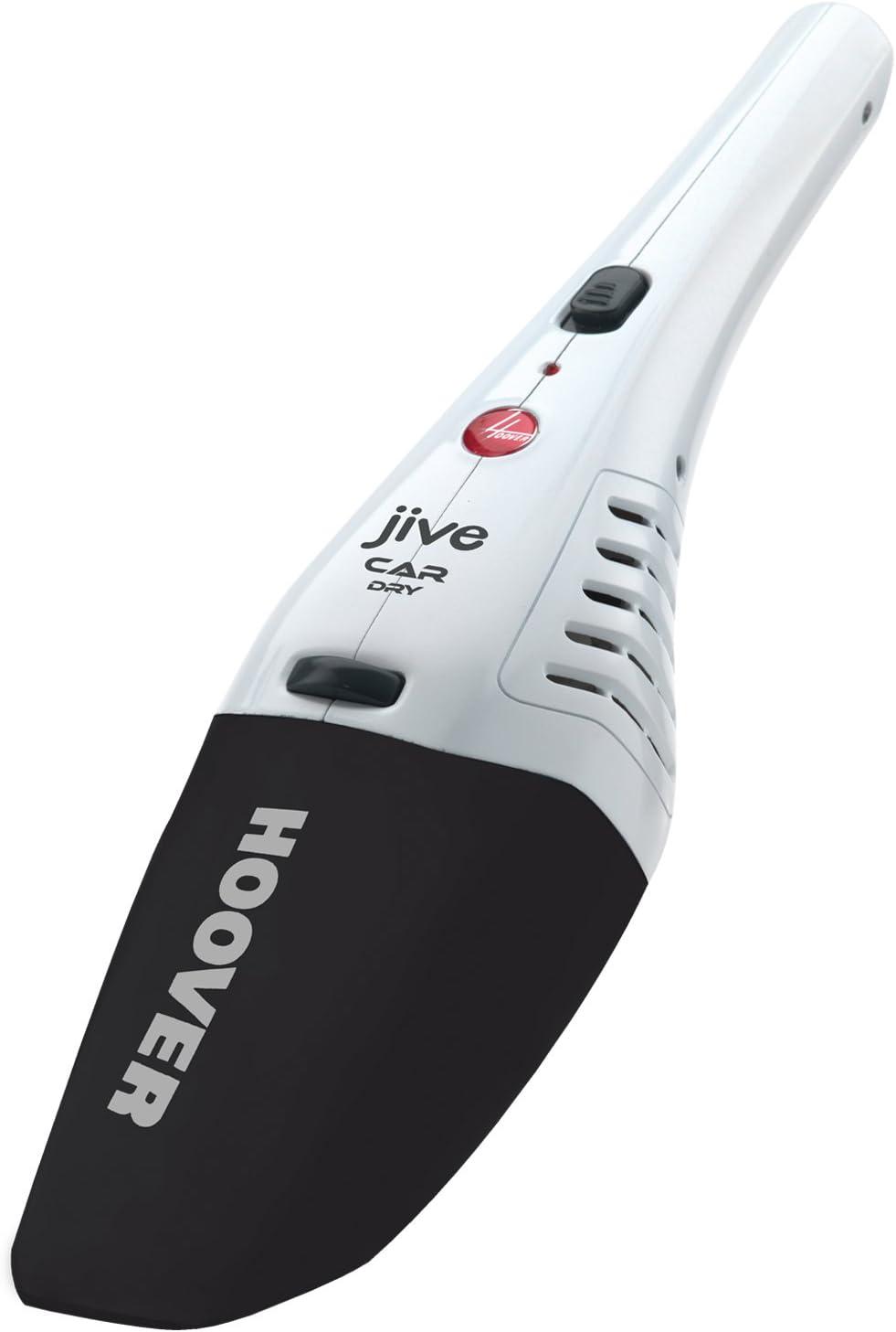 Hoover Jive SJ4000DWB6 Car Aspiradora de mano, Especial limpieza, Enchufe coche, Accesorio rincones, Cepillo para polvo, Batería, 40 W, 0.3 litros, 75 Decibelios, Plástico, Blanco