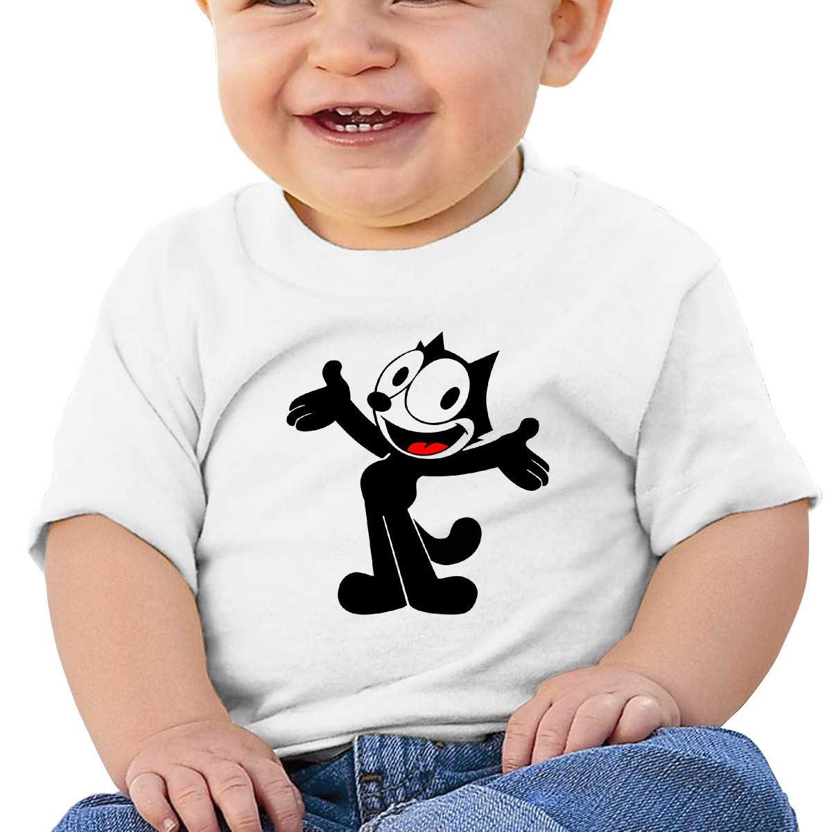 Boys Girls Shirts Smart Felix The Pussy Cat Baby Tees Cotton Tank Top for Toddle