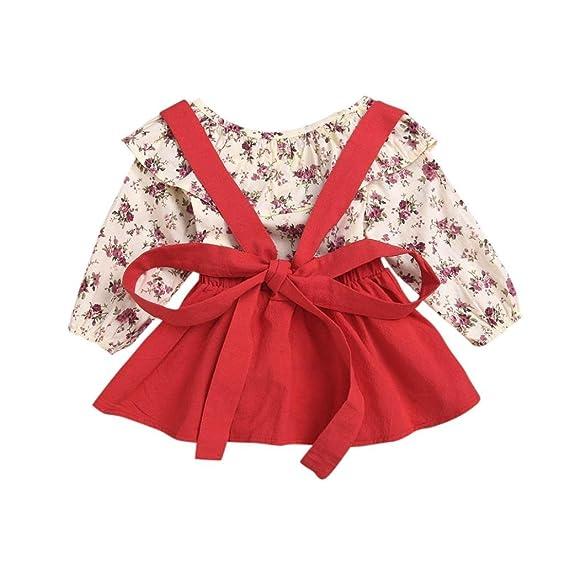 dff206b53 PAOLIAN Conjuntos Ropa para Niñas Bebe Recien Nacido para Verano Camisetas  de Impresion de Florales +