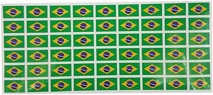Mini Fahnen Flaggen Set Glatt 20x12mm Aufkleber Brasilien Sticker Fürs Büro Schule Und Zu Hause 54 Stück Bürobedarf Schreibwaren