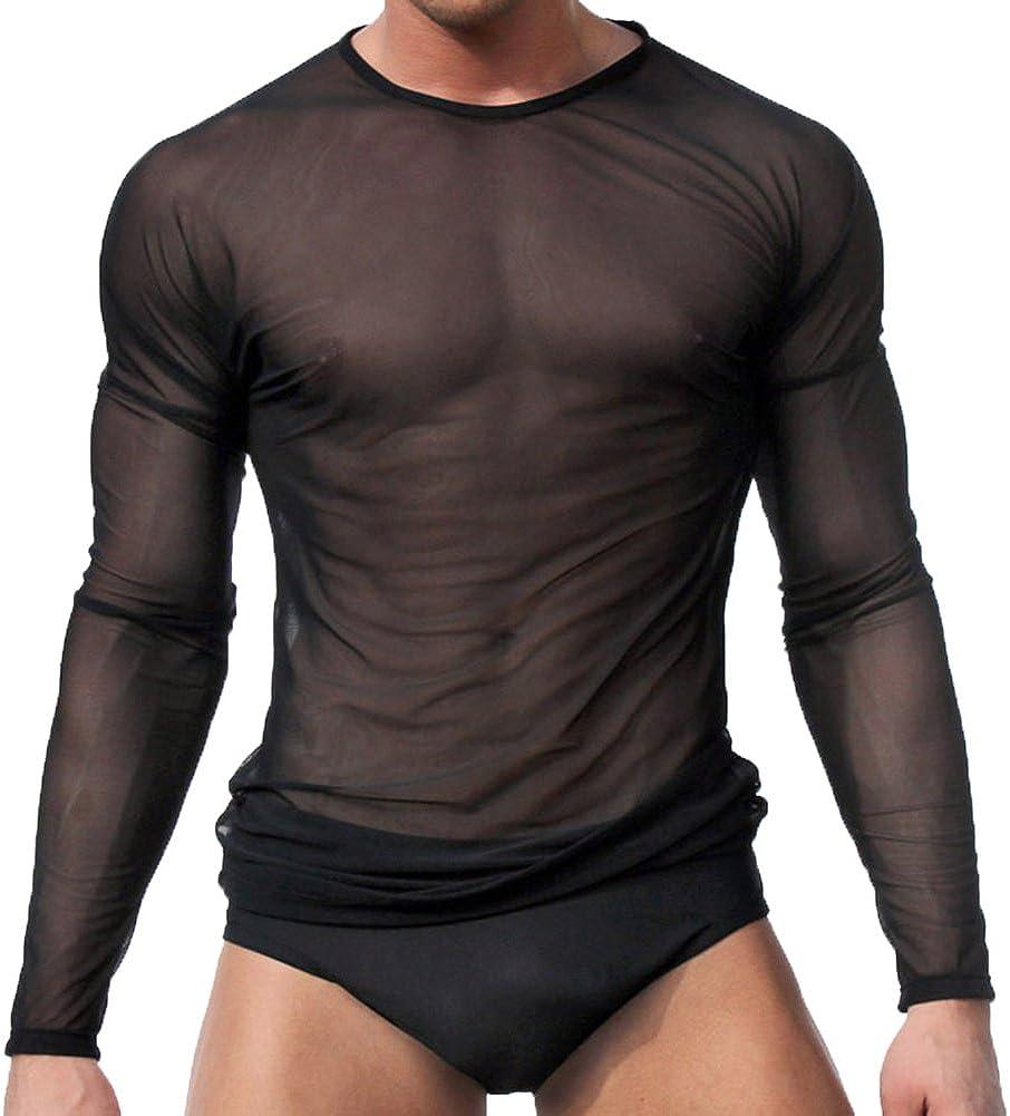 Ropa interior para hombres sexy Camiseta de manga larga Tops Ropa interior para dormir By Sandbank