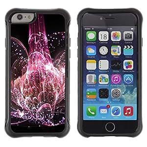 Suave TPU Caso Carcasa de Caucho Funda para Apple Iphone 6 / Universe Explosion Nature Life Pink Blossom / STRONG