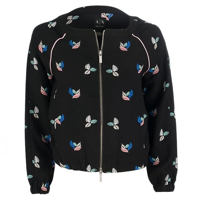 it Armani Nera Exchange Donna Abbigliamento Amazon Giacca Fantasia nB1xwqBgZ6