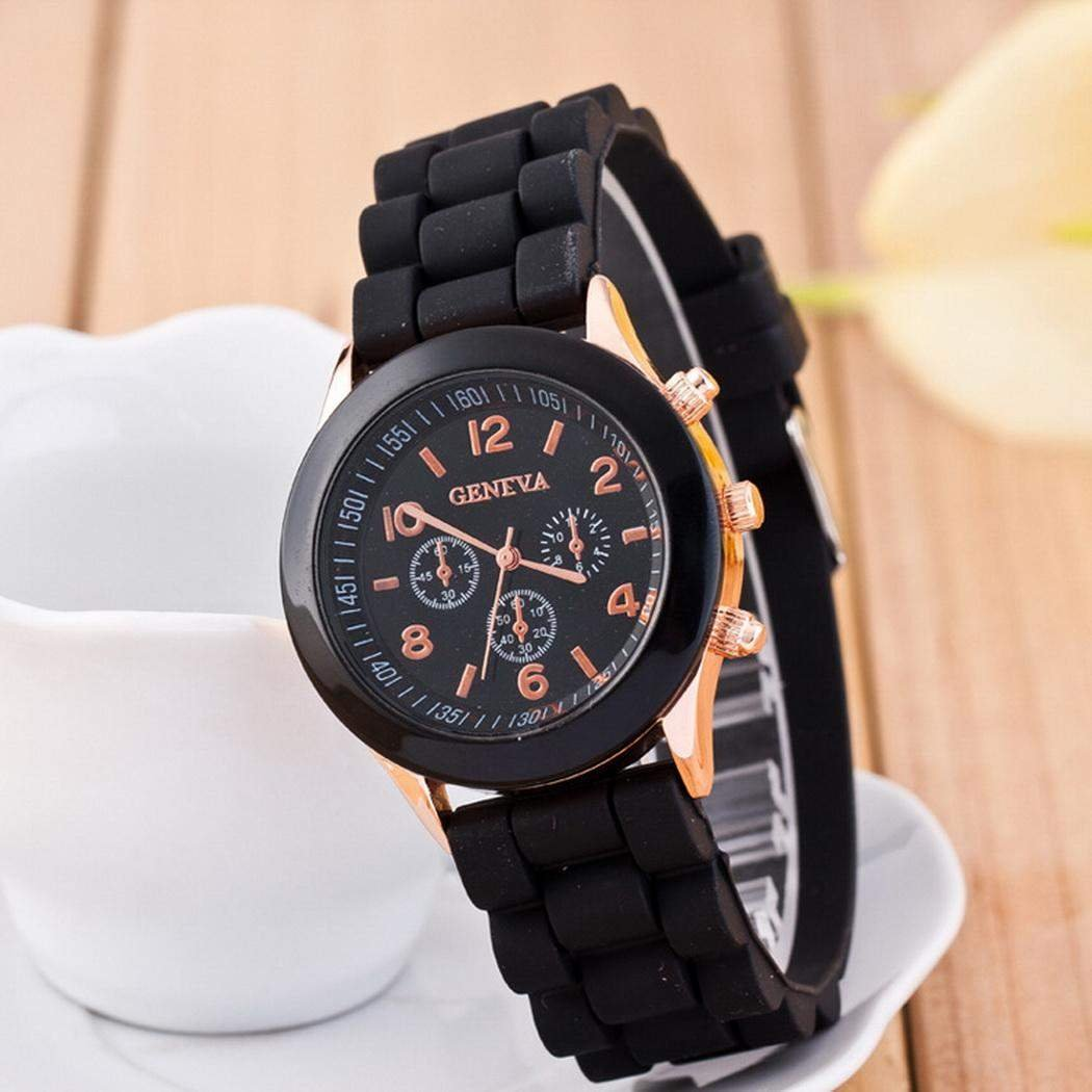 Women Fashion Wristwatch Silicone Watchband Analog Quartz Wrist Watch
