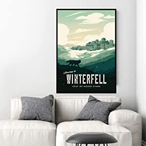 VinMea Metal Tin Sign,Game of Thrones WinterfellAluminum Sign Wall Art Decor Metal Sign,Public Sign,Decoration Sign 8x12 Inches
