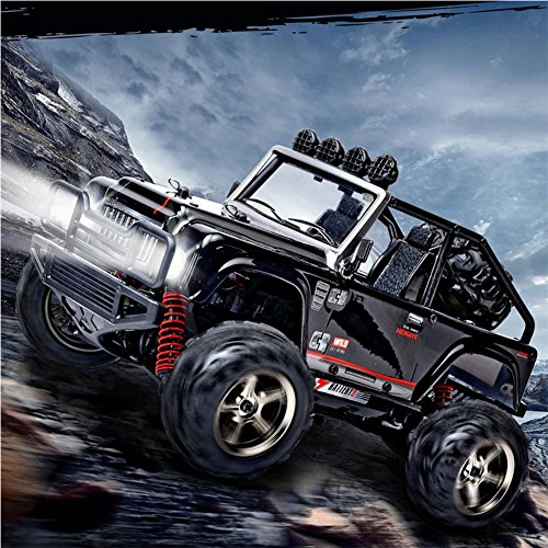 (OOFAY RC Cars 2.4Ghz Off-Road Vehicle 1/22 Jeep Rock Climber High Speed Racing 4WD Desert 40MPH Control Monster Truck,Black)
