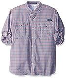 Columbia Men's Super Bahama Long Sleeve Shirt, Collegiate Navy Multi Plaid, XX-Large