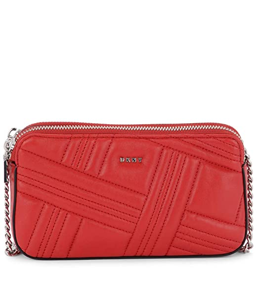 new arrivals f3920 0618a Dkny Women's Dkny Allien Red Quilted Leather Pochette Red ...