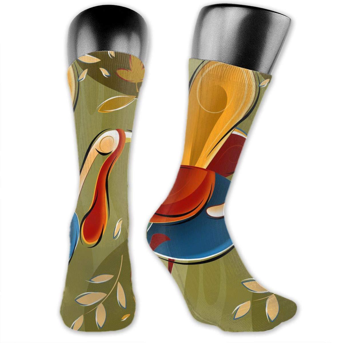 Athletic Socks Autumn Turkey Over The Calf Compression Socks