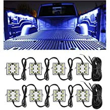 Pickup Trucks Bed Rails Light Kit with 48 Super Bright Color White LED Waterproof Lighting System for Pickup Truck Unloading Cargo Area