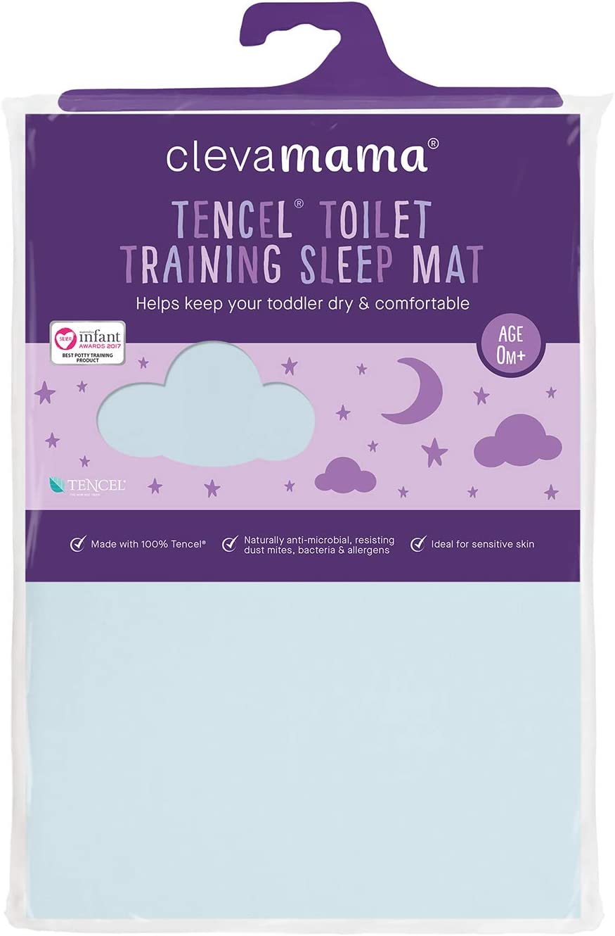 Clevamama Toilet Training Sleep Mat Waterproof Bed Protector Cotton 200 g Blue