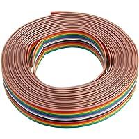 BouBou 5Pcs 5M 1.27Mm Pitch Ribbon Cable 16P
