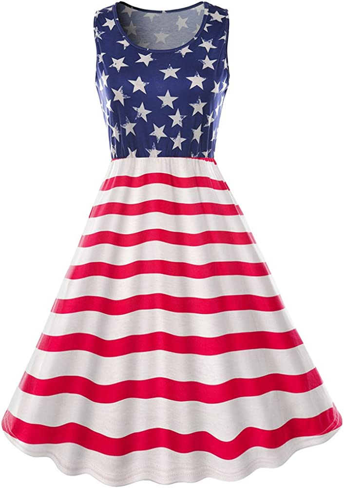 American Flag Dress Fit or Flare 2 Styles