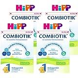 (跨境自营)(包税) Hipp喜宝 有机益生菌奶粉 1段3-6个月 4盒装(4 * 600g)