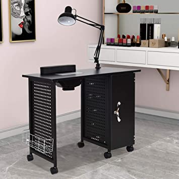 Amazon.com : Manicure Nail Table, WaterJoy Steel Frame Nail Station ...
