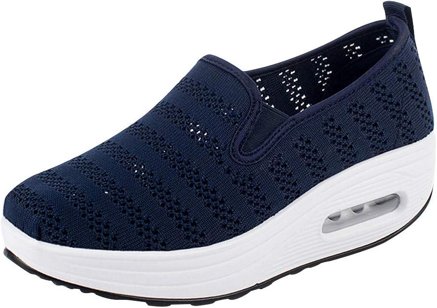 Zapatillas Planas para Mujer,ZARLLE Zapatos con Cordones Zapatos Deportivos Sneakers Running Zapatos,Fondo Grueso Zapatos Casuales: Amazon.es: Ropa y accesorios