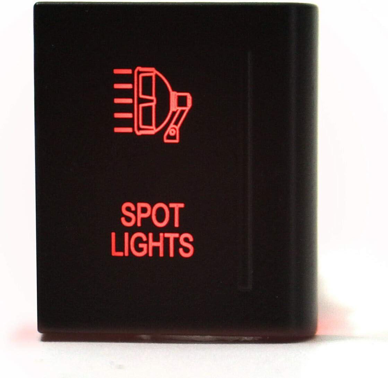 Color : Driving Light 12V 3A LED Licht Druckknopfschalter Fahrlichtleiste EIN AUS Schalter Universal Kompatibel Mit VW Amarok Passt Auf Die Rechte Seite Ersatzteile im Auto