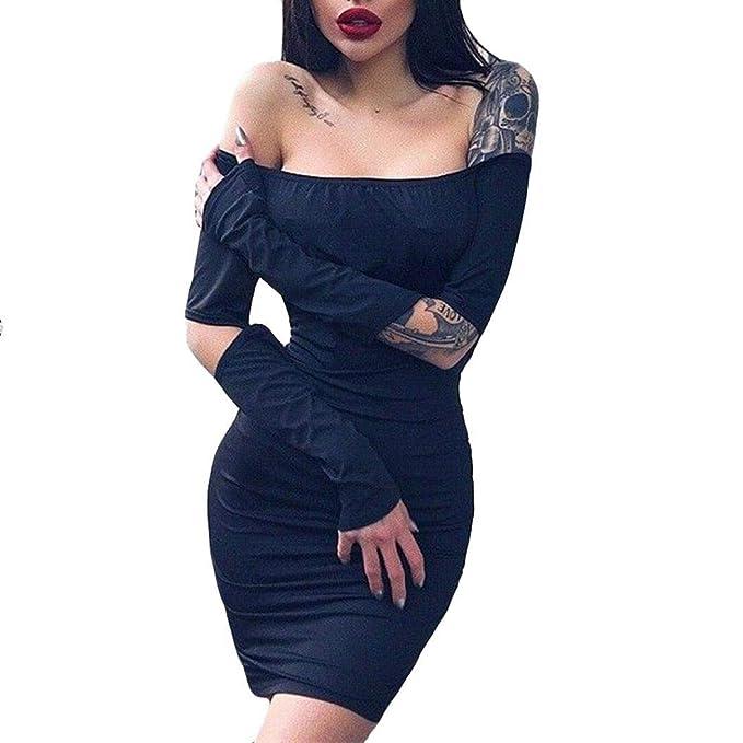 POLP Vestidos Cortos Mujer ◉ω◉ Vestido otoño Mujer Casual, Vestido Manga Larga Mujer, Tallas Grandes Vestidos de Fiesta, Mujer Vestido de Algodón, ...