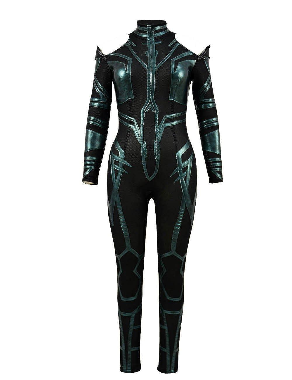 Zhangjianwangluokeji Hela Kostüm Cosplay Halloween Grüner Komplett Jumpsuit für Frauen B07PNMPCLM Kostüme für Erwachsene Mittlere Kosten  | Überlegene Qualität