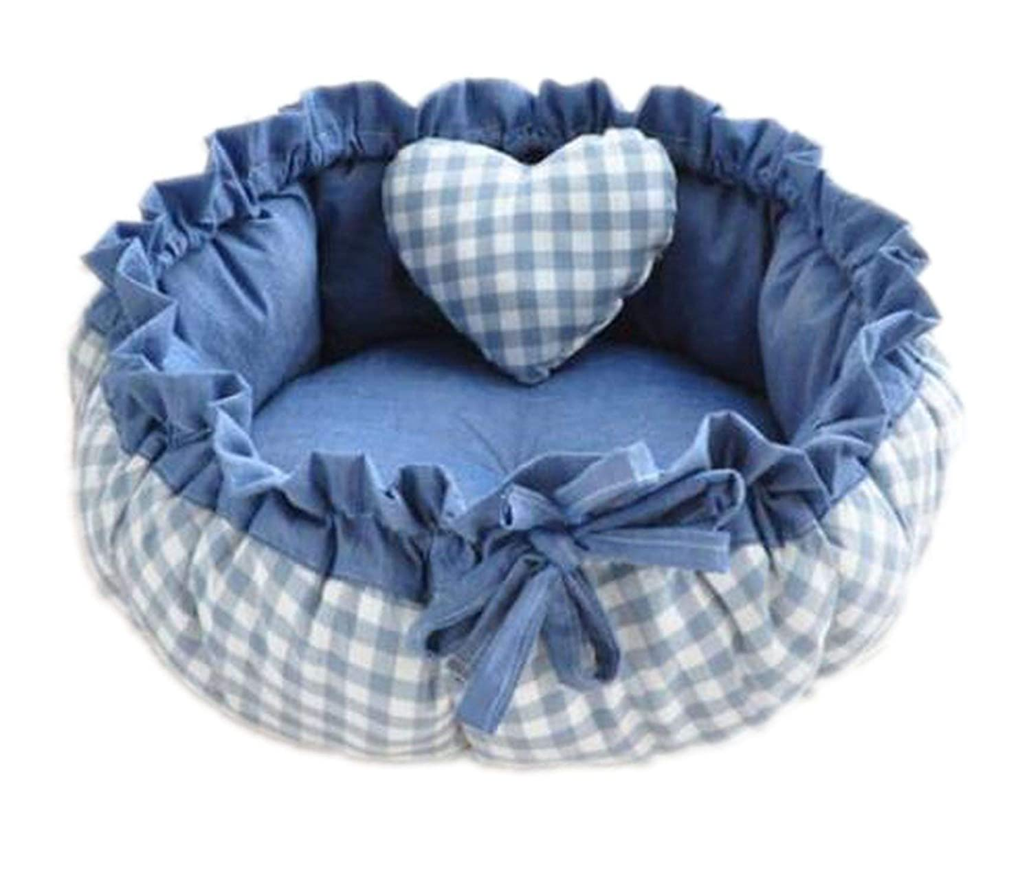 N15 S 40cmSweety Pet Dog Bed Cat Bed House Cushion Kennel Sofa with Pillow Warm Sleeping Bag,N13,M 50cm