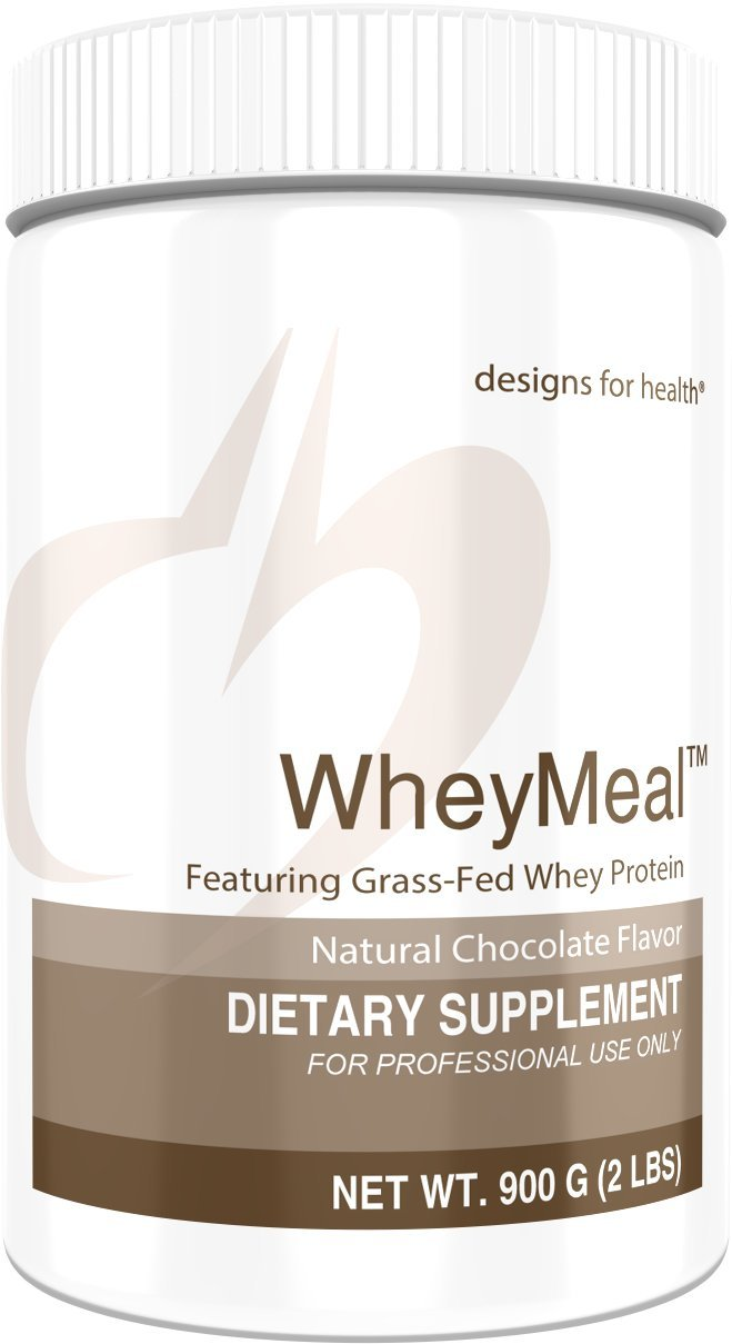 Designs for Health 16g of Grass Fed Whey Protein Powder Chocolate - WheyMeal Chocolate (900g / 25 Servings)
