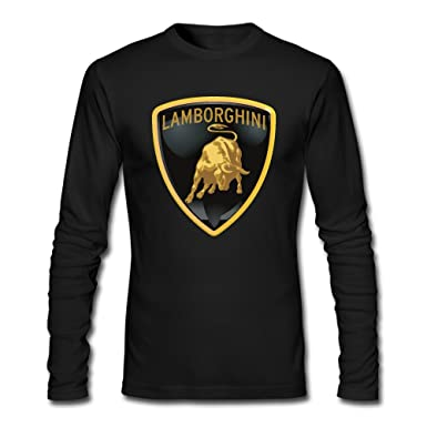 Amazon Com Men Lamborghini Logo Long Sleeve T Shirt Heathergray