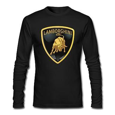 amazon com men lamborghini logo long sleeve t shirt heathergray