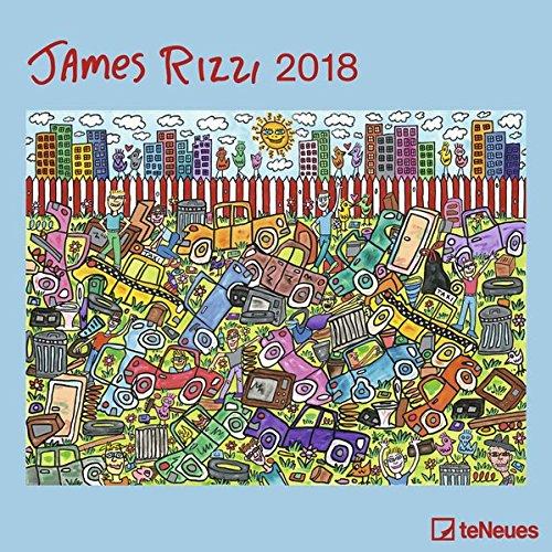 James Rizzi 2018 - Kunstkalender, Broschürenkalender, Wandkalender, Posterkalender, Pop Art Kalender  -  30 x 30 cm