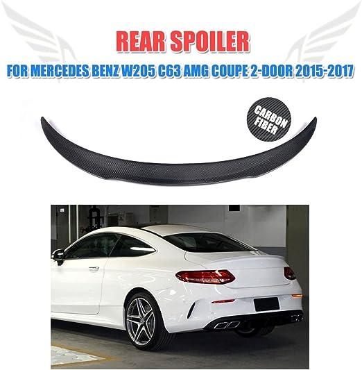 Heckspoiler Lippe Kofferraum Carbon Glänzend passt für Mercedes W205 C205 Coupe