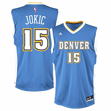 Adidas Nikola Jokic Denver Nuggets NBA réplica de la Camiseta Azul de los Hombres, XL