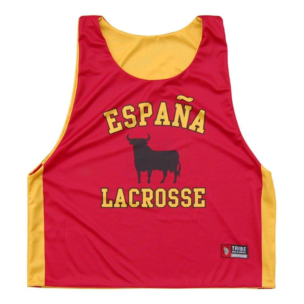 Spain Espana Lacrosse Sublimated Pinnie Red Adult