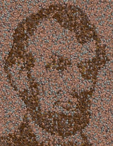 Abraham Lincoln Penny Mosaic FRAMED 9 X 12