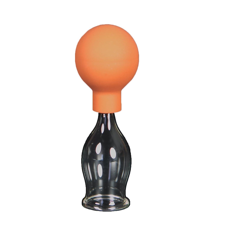 Schröpfglas mit Saugball 20mm zum professionellen, medizinischen, feuerlosen Schröpfen mundgeblasen handgeformt, Schröpfglas, Schröpfgläser, Lauschaer Glas das Original Schröpfglas Schröpfgläser