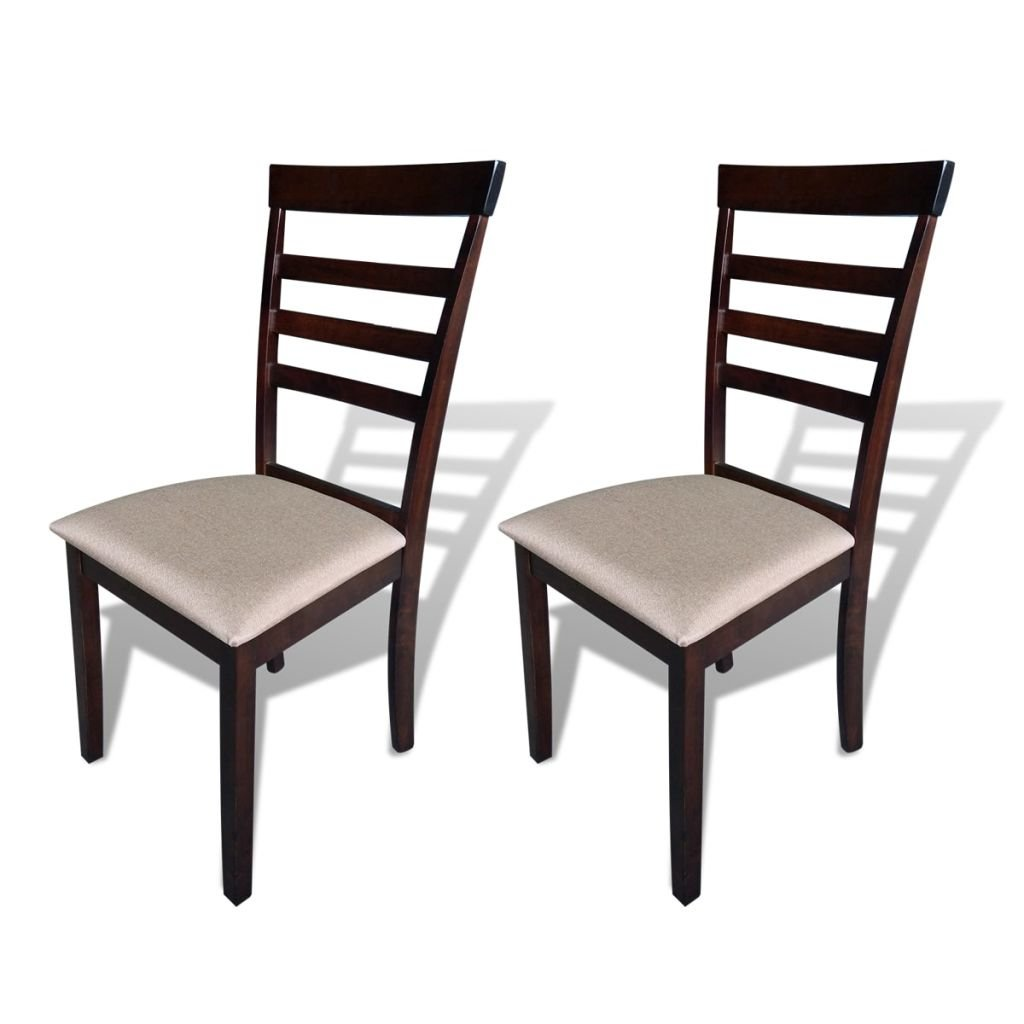 VidaXL Massivholz 2X Esszimmerstuhl Küchenstuhl Holzstuhl Stuhl Set Lehnstuhl