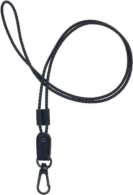 cordino per badge in pelle poliuretanica 40,64 cm Black USB o telefono cellulare 16 cordino per collo con forte clip e portachiavi per chiavi badge ID Boshiho