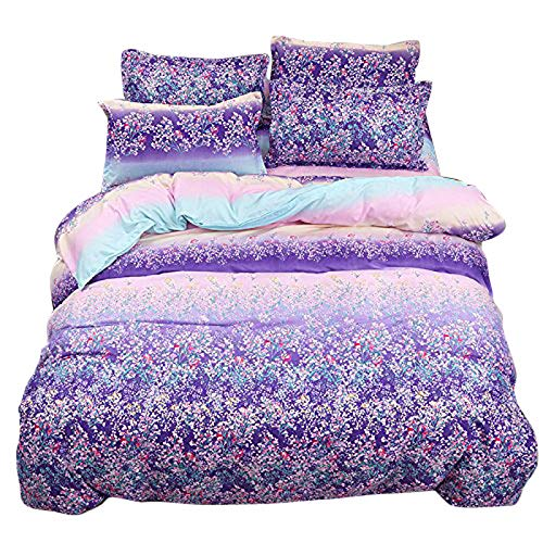 NOVA Bed Set 4pcs Beddingset Duvet Cover Set No Comforter Duvet Cover Flat Sheet Pillowcases Queen Sheets Set 78