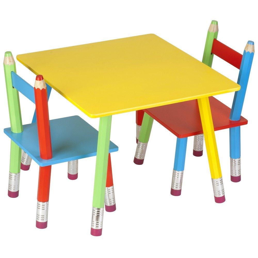 La chaise longue  32-E1-008 Table Enfant Crayons g/éants Multicolore Bois et m/étal