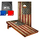 ACA American Cornhole Association Game Bean Bag Toss Set - Outdoor Games for Adults & Kids - Lawn, Tailgate, Camping