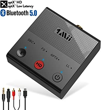 1Mii Bluetooth Transmitter for TV PC Wireless Audio Adapter aptX HD /& Low Latency Long Range Bluetooth 5.0 Transmitter with Optical Coaxial RCA AUX 3.5mm USB Audio Inputs-B02